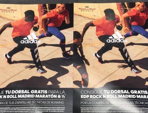 Tu Dorsal gratis para correr EDP ROCK N ROLL MADRID MARATÓN & 1/2
