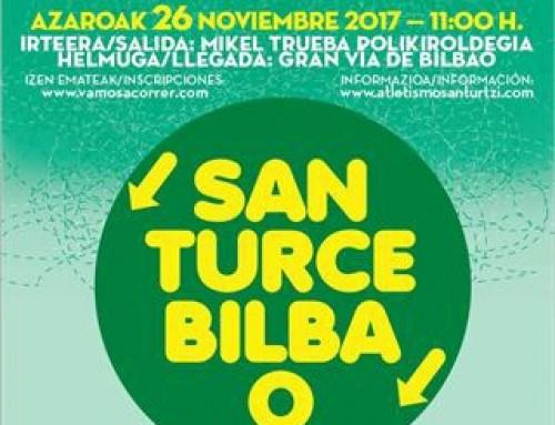 AUTOBUS CARRERA DESDE SANTURCE A BILBAO (26.11.2017)  COMPLETO
