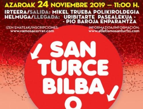 BUS CARRERA DESDE SANTURCE A BILBAO (24.11.2019)