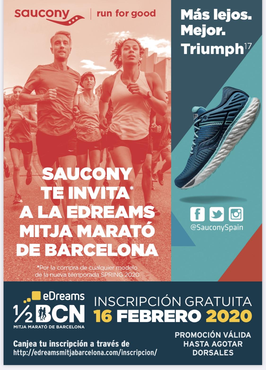 Dorsal gratis para Media Maratón de Barcelona